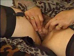Old bag with hairy cunt likes stiff cock