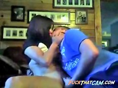 Young couple caught fucking on webcam