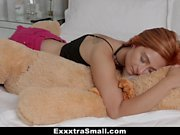 ExxxtraSmall - Horny Petite Teen Fucks Stuffed Teddy Bear