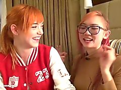 18 years old redhead Anny Aurora and asian