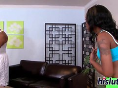 Young ebony honey rides on a BBC