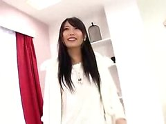 Asian japanese teen stockings blowjob