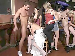 See what horny bachelorettes can do at CFNM party after a