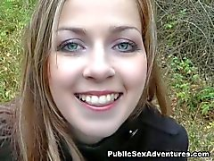 Beautiful girl's bj outdoors