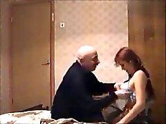 old guy fucking redhead teen on hidden cam