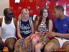 Slutty teens ride schlong