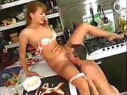 The sexiest russian milf Anna Shupilova kitchen fuck