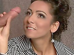 Horny daughter creampie eating