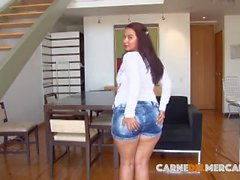 CARNE DEL MERCADO - Naughty big-assed Latina gets fucked and facialized