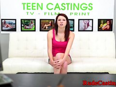 Cockriding teen casted and banged doggystyle