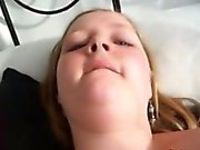 Chubby girl filming selfshot video