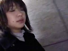 Asian teen in nylons takes them off to give head and get sc