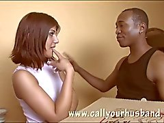 Red head teen getting ready for black cock
