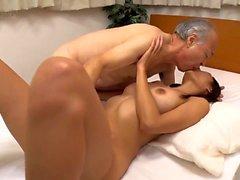 Young Hikari gives massage with hot blowjob
