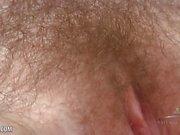 Hairy Teen Cyan Combs Her Hairy Pussy