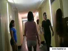 College hazing girls - teen mistresses in action