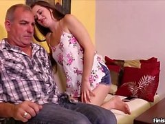 Amber Mae knows her step-dad has a huge dick and now that