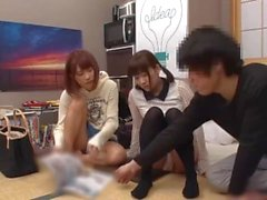JAV collection - Sex with two step-sisters stay overnight