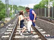 Sexy Alexis gets plowed on a railroad