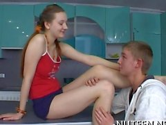 Russian teen Hottie screwed on camera