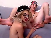 Young couple likes to suck and fuck each other on their web