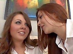 2 hot schoolgirls having breaktime fun with each other
