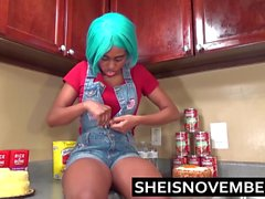 Ebony Big Tits Step Sister Msnovember Give Blowjob & Sex POV