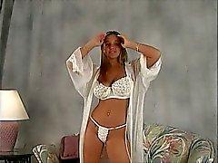 big tits teen model bouncing in bra and panties