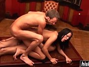 Kinky Vanessa fucks with two guys