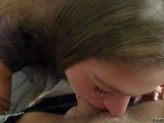 Young cathy Heaven gives deep throat to Rocco in pov