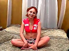 Little Redhead gets Her Pink Puss Fucked And Pale Ass Red