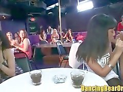 Room Full of Women Sharing Stripper Cocks