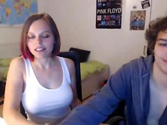 Amateur college couple having sex on webcam