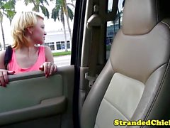 Stranded teen got messy facial from the driver