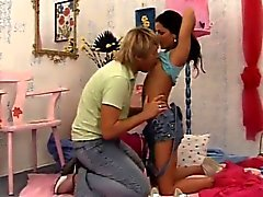 Teen becomes lesbian Monica gets a hefty facial