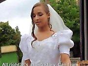 Amirah Adara fucked in public in her bridal gown