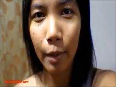 9 weeks pregnant thai asian teen get anal creampie in black leather