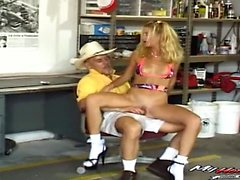 Sexy blonde has anal with stepdaddy