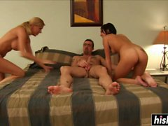 lucky guy has fun with two babes movie