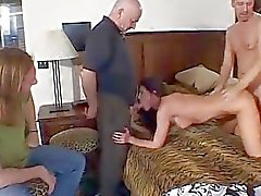 Husband Watches Wife In Hot Thre...