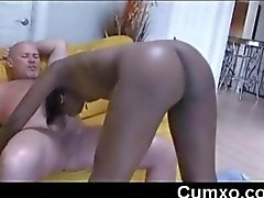Black Sexy Beauty Teen Sucking White Cock