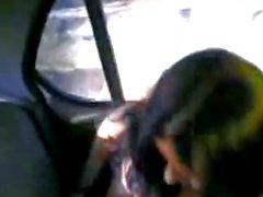 Indian teen Gf and Bf inside a car