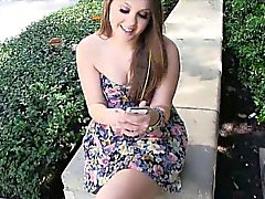 Lovely hottie chick Cali Hayes getting wet