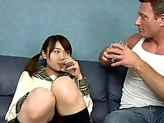 Sucky fucky session with a Japanese schoolgirl