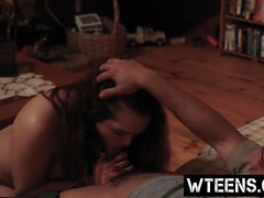 Sophia Lucille brunette teen rough submission POV