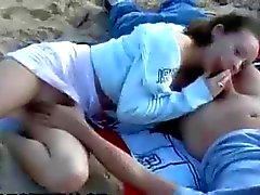 Nude Beach - Hot Teen Show & Fuck with Facial