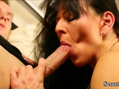 GERMAN MOTHER IN SEXY LINGERIE AND NICE ASS Fuck Young Boy