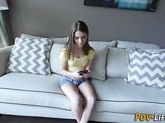 Pov teen gets spunked on