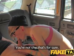 FakeTaxi Blonde with glasses and big tattoos