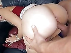 Horny honey turns avid from a vehement hammering